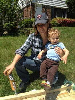 Ariel and her son Ezra, who served as an assistant on the porch project.