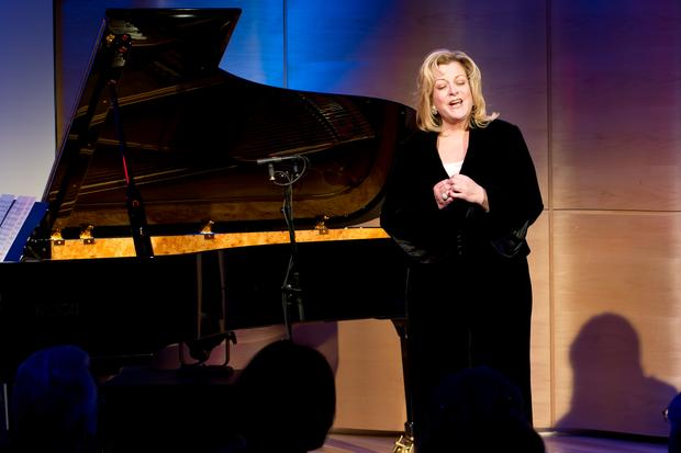 Met Opera soprano Deborah Voigt performs on April 1, 2014 in The Greene Space