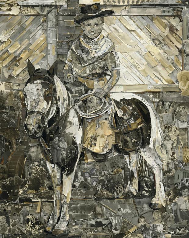 Boy with Pony, Album, 2014, Digital C-Print (Vik Muniz)