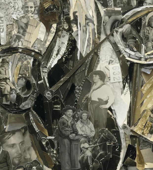 Boy with Pony (detail), Album, 2014, Digital C-Print (Vik Muniz)