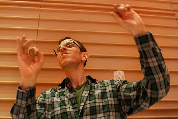 Brooklyn Philharmonic conductor Alan Pierson directs the ensemble at the DiMenna Center.