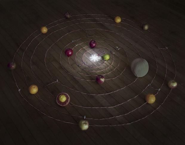 Fruit Battery Solar System, 2014 (Caleb Charland)