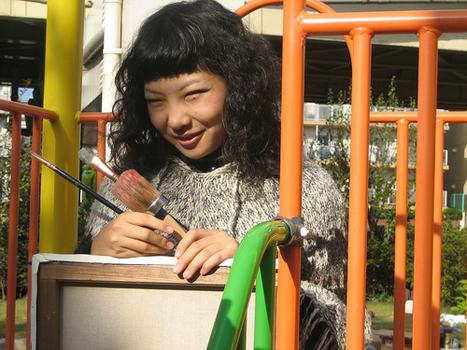 24-year-old Erina Matsui says she just wants her bizarre paintings to make people laugh.