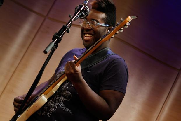 Solomon Dorsey plays bass with Jose James.