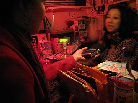Lisa interviews Toast Girl at a bar in Golden Gai, an old Tokyo district of tiny bars that used to be brothels.