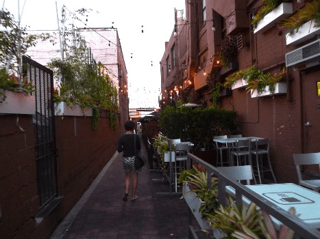 Some alleys have been made into pedestrian walkways. East Cahuenga Alley in Hollywood has transformed from a scary thoroughfare into a quaint spot for outdoor dining.