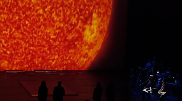 And here's a look at the sun created by Pilobolus, on stage at Berkeley.