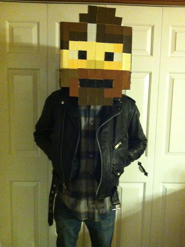 Pixelated Man costume