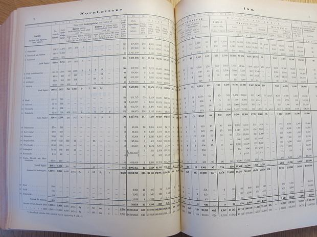 Lots of stats from a page of historical records in Stockholm, Sweden.