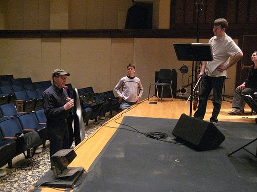 Steve Reich with the members of eighth blackbird