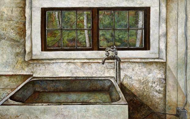 Simon Dinnerstein: Alexander Studio, 1979, oil on wood panel