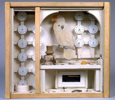 Untitled (Cockatoo with Watch Faces), Joseph Cornell