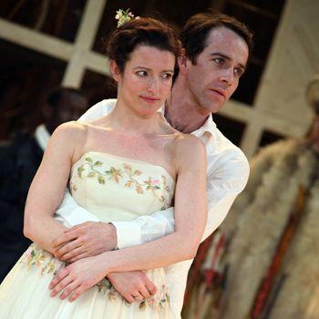 Katy Stephens plays Rosalind and Jonjo O'Neill plays Orlando in the Royal Shakespeare Company's production of