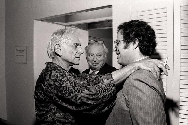 Leonard Bernstein with Isaac Stern and Itzhak Perlman.