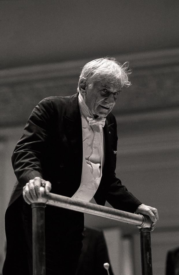 Leonard Bernstein conducts the Vienna Philharmonic Orchestra in Carnegie Hall; September 24, 1987