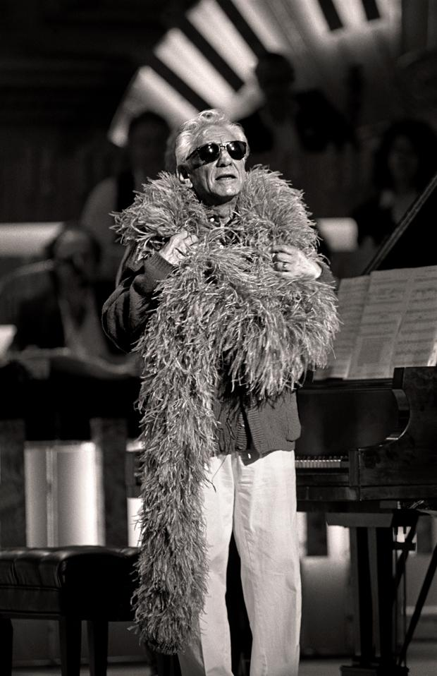 When it came time for Leonard Bernstein to rehearse, he appeared onstage draped in Nell Carter's purple boa and wearing shades, to the surprise and delight of everyone present.