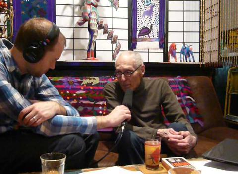 Barney Rosset with producer Derek John
