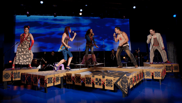 The current production at the Pregones Theatre is Aloha Boricua