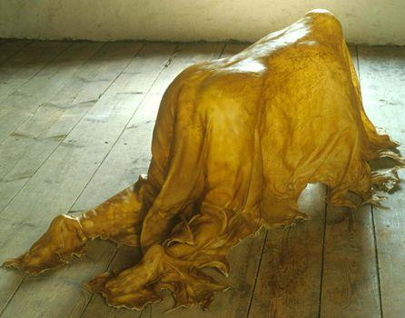 Saddle, 2000. Full rawhide, 25 1/2 x 32 1/2 x 78 1/2 in. The Dakis Joannou Collection, Athens