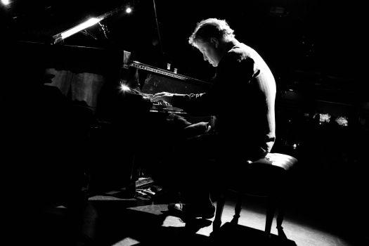 Justin Bischof at the piano