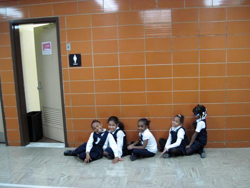 "At South Bronx Classical ""bathrooming"" is a verb. Students are taken to the bathroom three times a day."