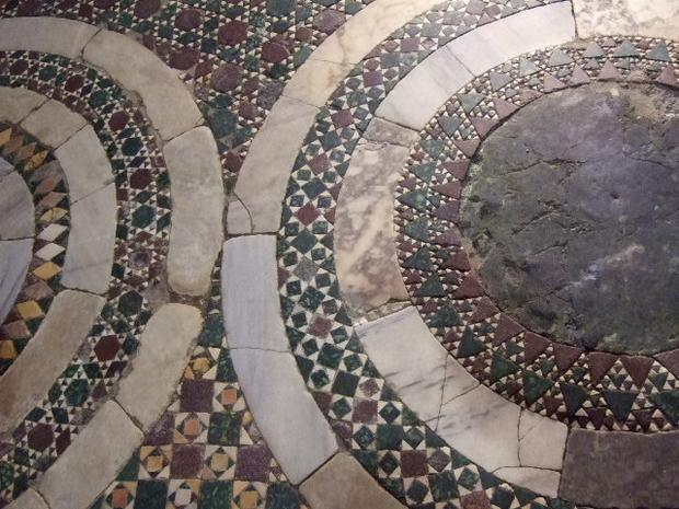 The floor of the Church of San Benedetto