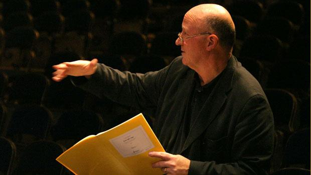 Rehearsing London Sinfonietta, Royal Festival Hall in From Egil's Saga (2004)