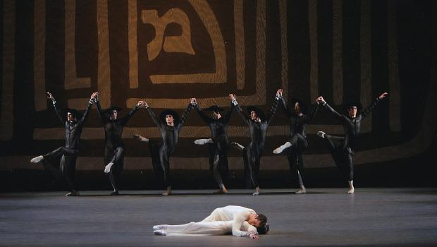 Jennifer Ringer, Benjamin Millepied and company in Dybbuk, choreographed by Jerome Robbins