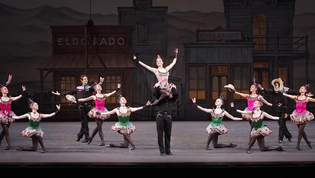 Abi Stafford, Nilas Martins and Company in Western Symphony, choreographed by George Balanchine