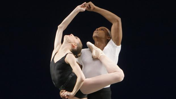 Wendy Whelan and Albert Evans in Agon, choreographed by George Balanchine