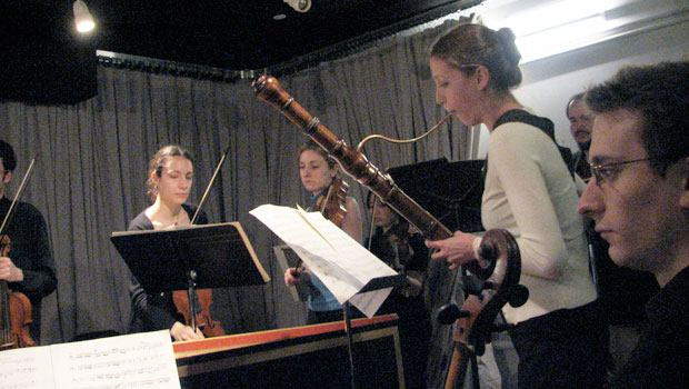 Members of Juilliard415 performing in the WQXR studios