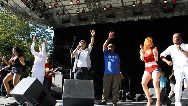 Kiko Rodriguez performs at Bachatafest at Central Park's Summerstage on August 14.
