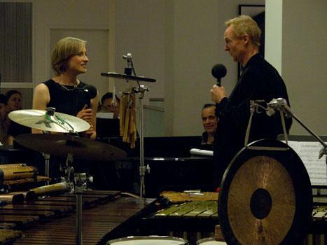 WNYC's John Schaefer interviewing composer Hannah Lash