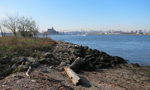 The view from North Brother Island, where Mary Mallon was quarantined.