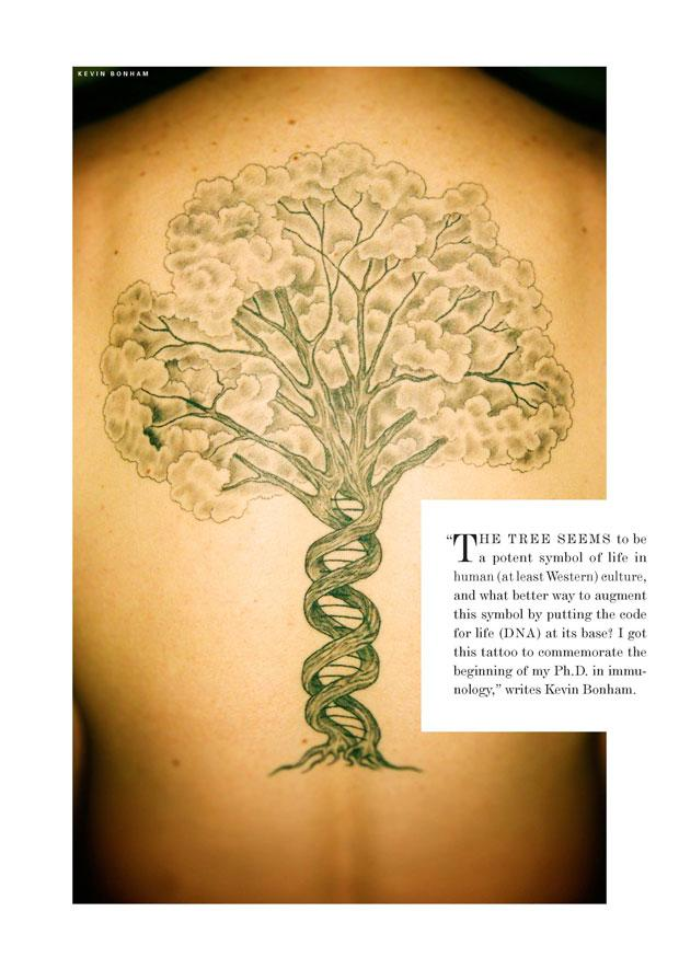 Tatoo of a tree.