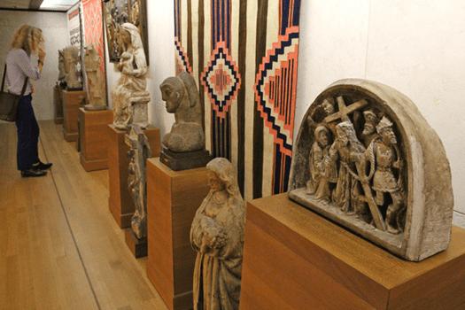 Barnes Foundation, Philadelphia, Pennsylvania, Medieval sculpture, Navajo blanket