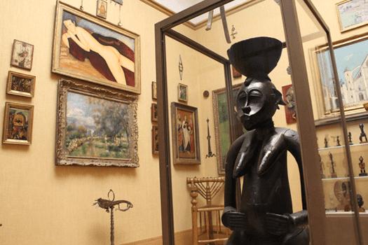 Barnes Foundation, Philadelphia, Pennsylvania, Modigliani, Reclining Nude, African sculpture