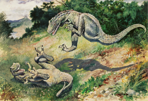 Charles R. Knight Leaping Laelaps