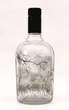 Questioning the Open Field, Jim Dingilian, 2011	 The landscape inside this glass bottle was created with smoke.