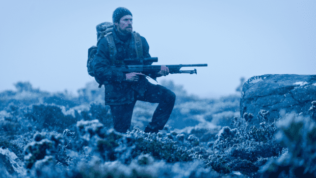Dafoe plays a hunter tracking a rare tiger in the Tasmanian outback in <em>The Hunter</em>.