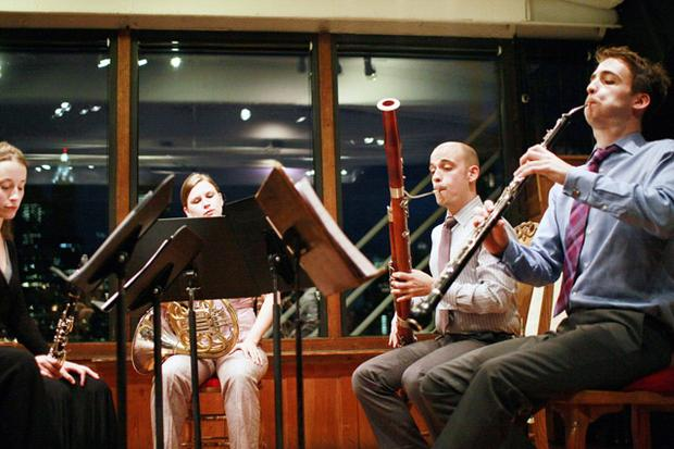 Sospiro Winds performing at Bargemusic