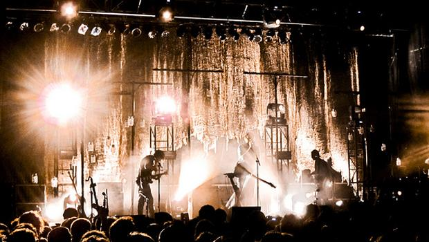 Grizzly Bear perform late-night on Governor's Island on August 12.