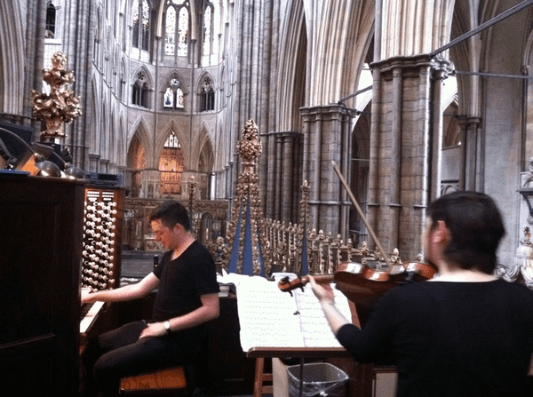 Nadia Sirota and Nico Muhly in Westminster Abbey