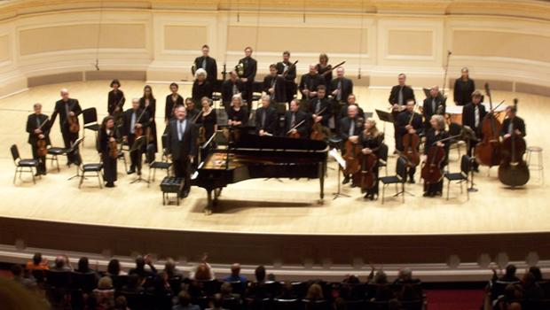 The crowd's rousing ovation brings Ohlsson back to the stage for an encore Chopin's Waltz No. 7 in C-sharp minor.