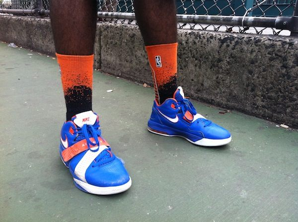19 year old Brooklyn resident and Berkeley College student Brian Payne in his Amare Stoudamire Nike Airs.