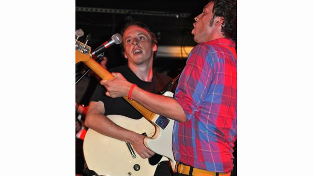 The Spinto Band perform on the LES at the Mercury Lounge on August 13.