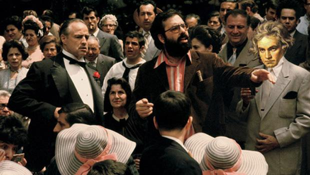 From one genre-busting artist to another: Beethoven helps Coppola direct the Godfather.