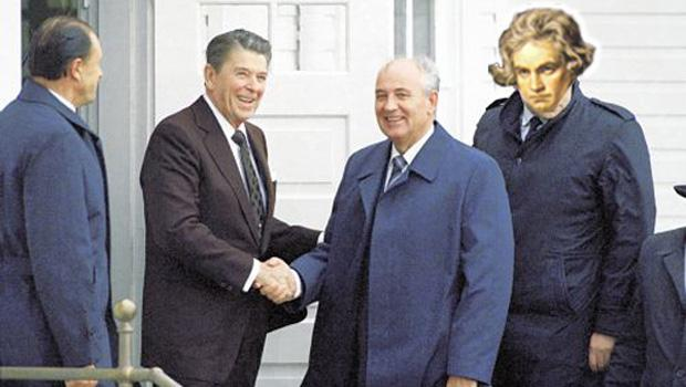 Another important event in geo-political history, Beethoven helps negotiate a Cold War treaty.