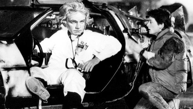 Beethoven tries out the time machine in Back To The Future. Too meta?