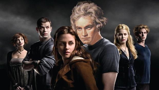 Immortality is something Beethoven sought through his music. Here he is again in a movie poster for 'Twilight.'